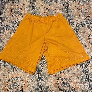 Nike Yellow Basketball Shorts L grey tag shorts